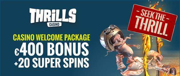 casino welcome bonus thrills