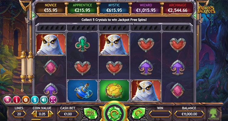 ozwins jackpot slot
